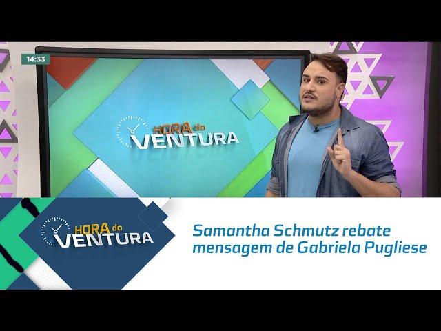 Samantha Schmutz rebate mensagem de Gabriela Pugliese sobre Paulo Gustavo