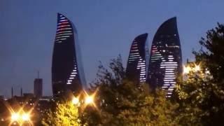 Баку #8 Ночной Баку Город света и огня City of light and fire Baku Night