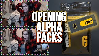 Opening 242 Alpha Packs! | Rainbow Six Siege