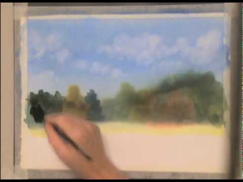Lifting clouds a watercolor painting tutorial youtube for Video tutorial on watercolor painting