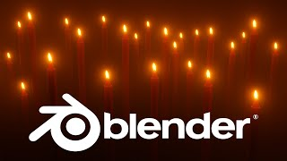 Blender 3D Modeling and Texturing a Candles 🔥 | Eevee