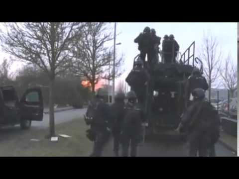 Charlie Hebdo attack: Footage shows Kouachi siege end
