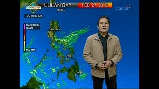 Weather update as of 6:15 a.m. (February 27, 2018)