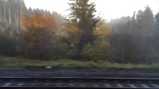 Foggy train trip from Fribourg to Geneva
