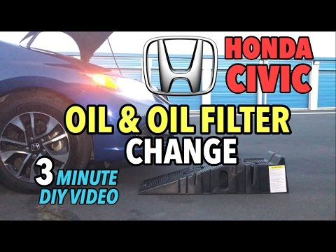 Honda Civic Sedan Oil & Oil Filter Change 2012-2016 - 3 Minute DIY Video
