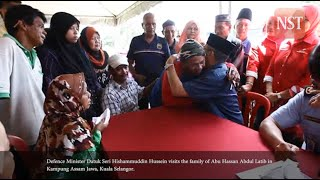Defence Minister visits the family of Abu Hassan Abdul Latib in Kampung Assam Jawa