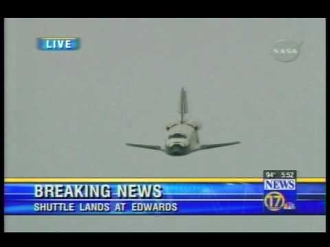 Space Shuttle,  Best view of shuttle landing Ive ever seen !