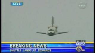 Space Shuttle,  Best view of shuttle landing Ive ever seen ! thumbnail