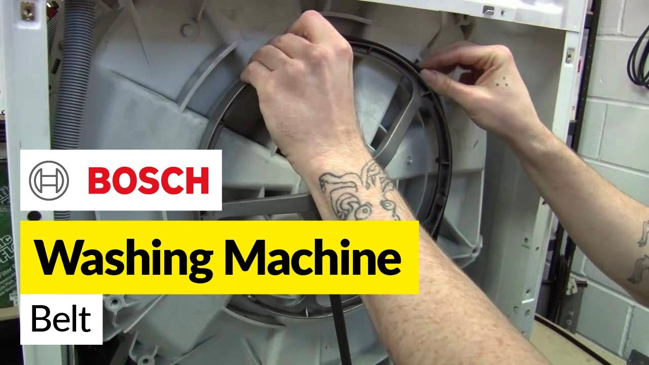 how to replace a    washing       machine    belt on a bosch washer  how to replace a    washing       machine    belt on a bosch washer