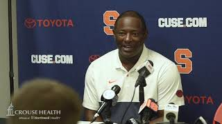 Dino Babers postgame news conference after Syracuse football at Maryland (2019)