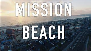 Mission Beach San Diego with a DJI Phantom 3 Drone