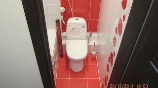 Дизайн и ремонт туалета керамикой и пластиком