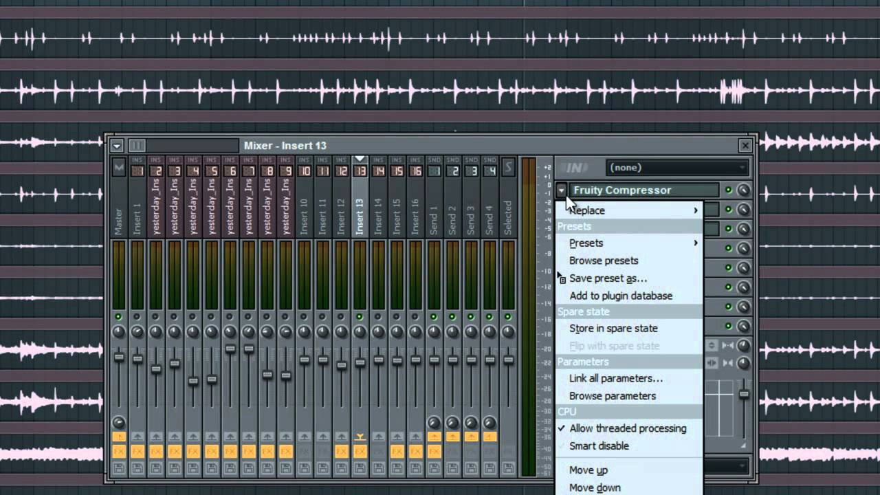 FL Studio Tutorials - Create and Re-use Mixer Presets