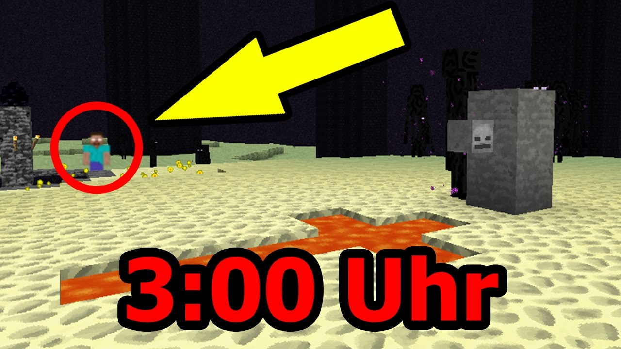 SPIELE NIEMALS UM UHR NACHTS MINECRAFT YouTube - Minecraft spielen um 3 uhr