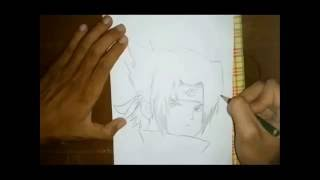 Cara Menggambar Sasuke (How to draw sasuke)