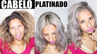 tutorial cabelo cinza   como platinar o cabelo em casa passo a passo