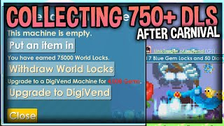 Collecting Dls From All My Buy+ Worlds + (Carnival Profit) !│Growtopia