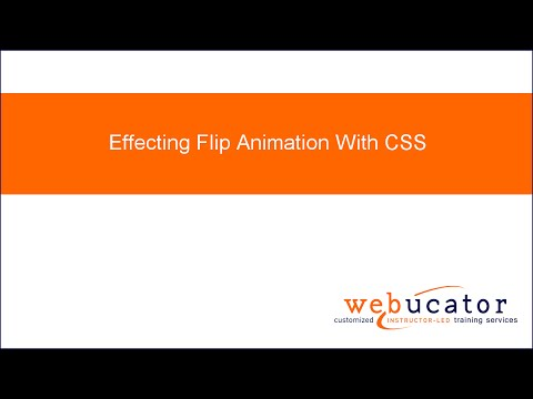 Effecting Flip Animation With CSS - YouTube