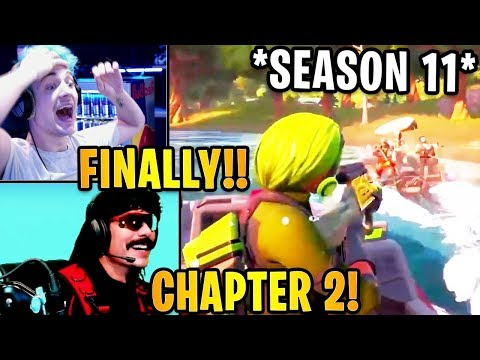 Streamers React To *NEW* CHAPTER 2 - SEASON 11 Battle Pass Trailer! | Fortnite Highlights