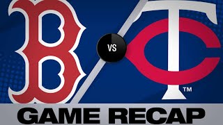 Red Sox blank Twins in 2-0 victory | Red Sox-Twins Game Highlights 6/17/19