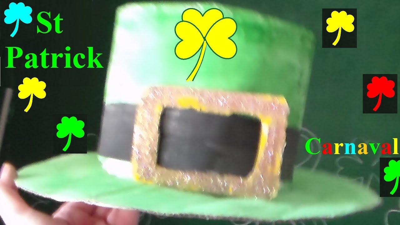 saint patrick 39 s day bricolage chapeau de leprechaun. Black Bedroom Furniture Sets. Home Design Ideas