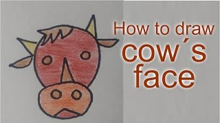 How to draw Cow´s Face