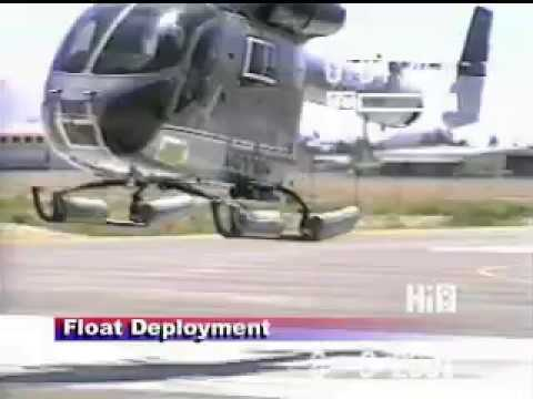 MD902 Helicopter Float Test, Autorotation to water