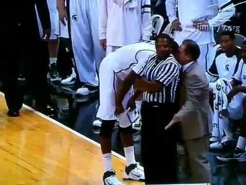 Izzo Gets Blocked By Ted Valentine, Big 10 Ref   YouTube