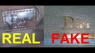 Real vs fake Christian Dior purse. How to spot fake Christian Dior