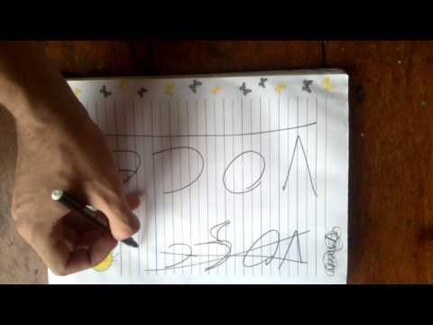 tutorial #10 como escrever a palavra VOCÊ