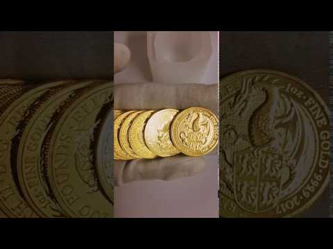 New Beast Unboxing! 2017  1 oz Gold Queen's Beast (Red Dragon) Coin .9999 Fine BU (GB)