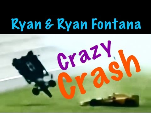 Ryan Brisco Ryan hunter Reay Crash Fontana Indy car racing