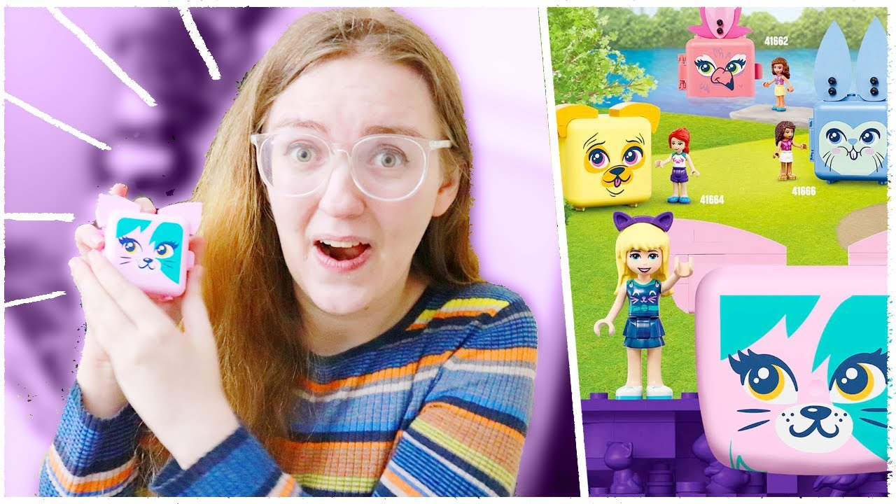 omg it's like a LEGO Polly Pocket?! - Lego Friends Cat Cube!