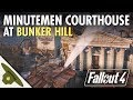 Minutemen Courthouse at BUNKER HILL | Part 1 - Huge, realistic Fallout 4 settlement and lore