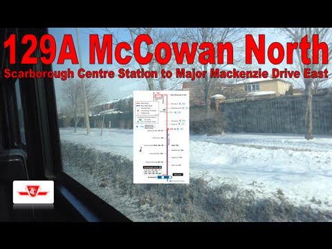 129A McCowan North - TTC 2006 Orion VII HEV 1108 (Scarborough Centre Stn to Major Mackenzie Dr East)