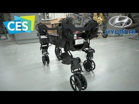 Hyundai Cradle Walking Car Concept – Robot Demo | CES 2019