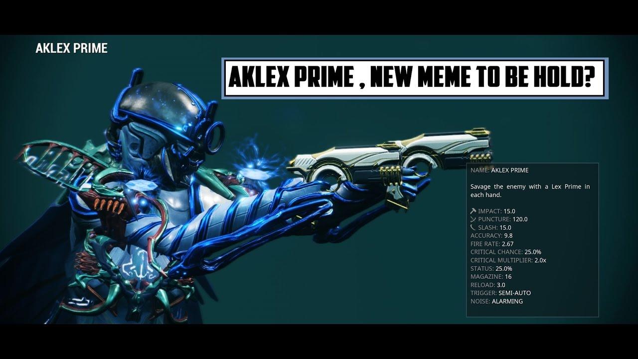 Warframe Aklex Prime Baro S New Meme Youtube