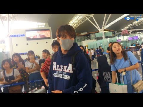 (Fancam)(21.9.2017) Yonghwa @ Noi Bai International Airport, back to Korea