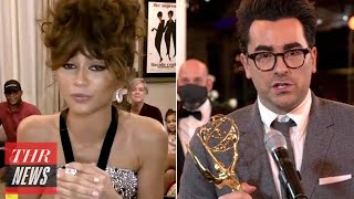 Top Emmys Moments: Zendaya and 'Schitt's Creek' Make History, Stars Get Political & More | THR News
