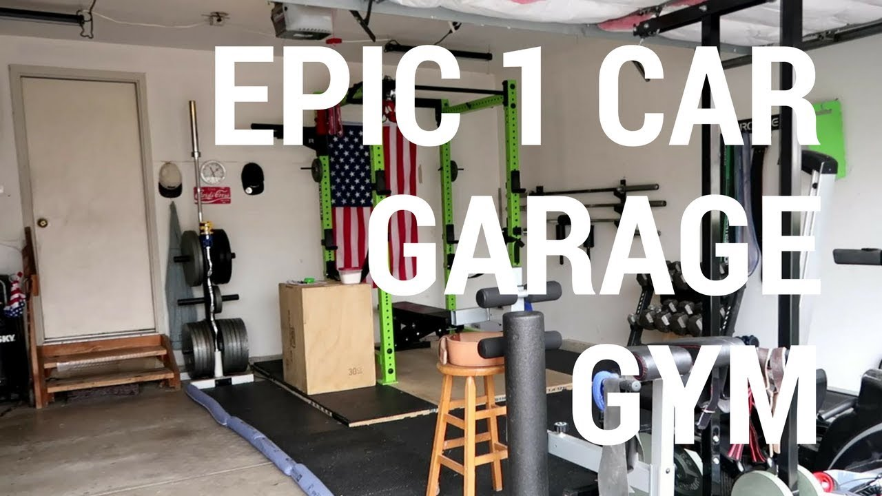 Garage Gym With Car Epic 1 Car Garage Gym