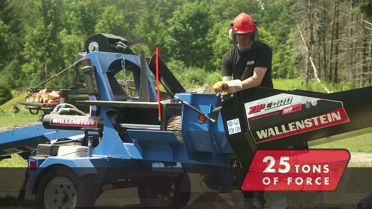 Wallenstein Zipcord Firewood Processor - CUMMINGS & BRICKER