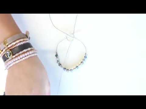 Bijoux à faire soi-même : Bracelet en macramé et perles à facettes ♡ DIY