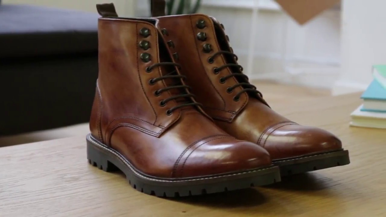 The Base London 'Siege' Washed Tan boots