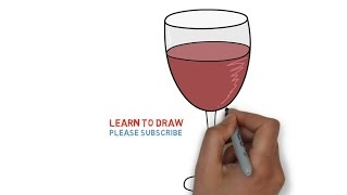 Easy Step For Kids How To Draw a Wine Glass