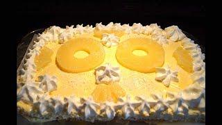 Tiramisu à l'ananas en forme de gâteau