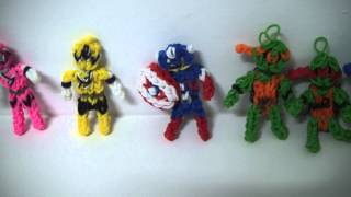 RAINBOW LOOM - Collection of Super Heroes and Other Stuff