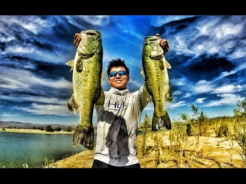 EPIC DAY from the BANK (California GoPRO Bass fishing)
