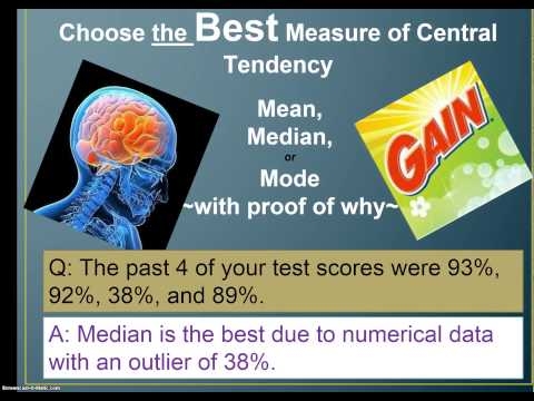 mode median and the mean measures of central tendency