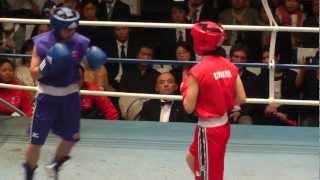 Women's Boxing 釘宮智子 vs 邱敬雅 (女子ボクシング) 2013.4.2