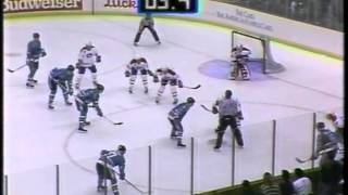 Montreal Canadiens - 3 @ San Jose Sharks - 3 OT February 28, 1992 Guy Carbonneau